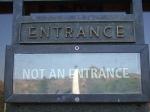 entrance not entrance